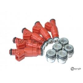 Kit injecteurs essence & adaptateurs H.P. (88-92, 7A, +8Cv)