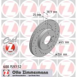 Kit disques frein avant gauche/droit (84-06, 256x20, 4/100, perforés)