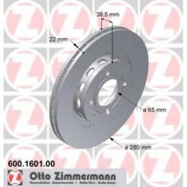 Disque frein avant (86-95, 280x22, perce)