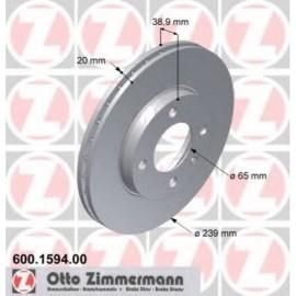 Kit disques frein avant gauche/droit (73-02, 239x20, 4/100)