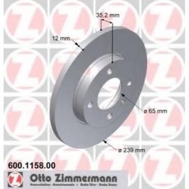 Disque frein avant (74-03, 239x12, perce)
