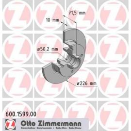 Kit disques frein arrière gauche/droit (84-02, 226x10, 4/100)