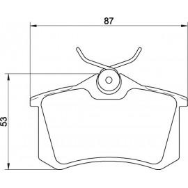 Kit plaquettes frein arrière (88-02)