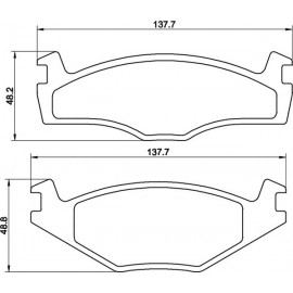Kit plaquettes freins avant (79-98)