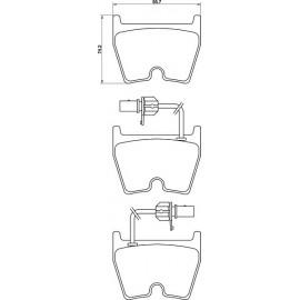 Kit plaquettes freins avant (03-05)