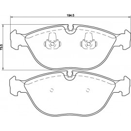 Kit plaquettes frein avant (99-06)