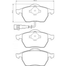 Kit plaquettes frein avant (97-10)