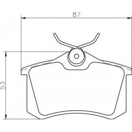 Kit plaquettes frein arrière (98-06)