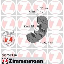 Kit disques frein arrière gauche/droit (84-02, 226x10, 4/100, perforés)