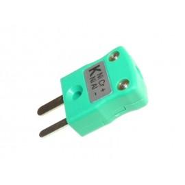 Connecteur thermocouple K-type mâle sonde EGT & AIT (2 pôles, vert)