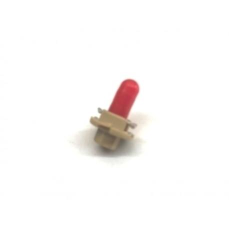 Ampoule/socle combiné d'indicateurs tableau de bord (95-02, B2.4W-12V1.5W, rouge)