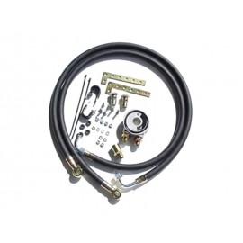 Kit plaque adaptateur filtre à huile & tuyaux radiateur d'huile (caoutchouc)