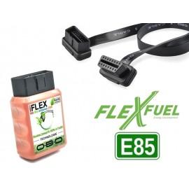 """Kit boîtier convertion essence """"FlexFuel E85 OBD/OBD2"""" moteur R3/R4/R5/VR5/VR6/V6/V8 (93-, ≤80% éthanol)"""