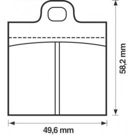 Kit plaquettes frein avant (66-71)