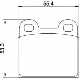 Kit plaquettes frein avant (71-72)