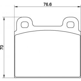 Kit plaquettes freins avant gauche/droite (70-72)