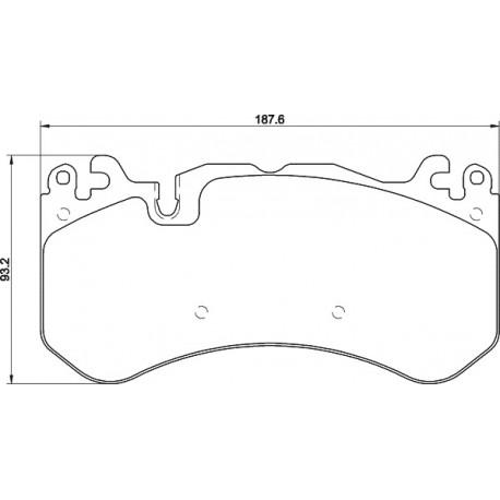Kit plaquettes freins avant gauche/droite (08-18)
