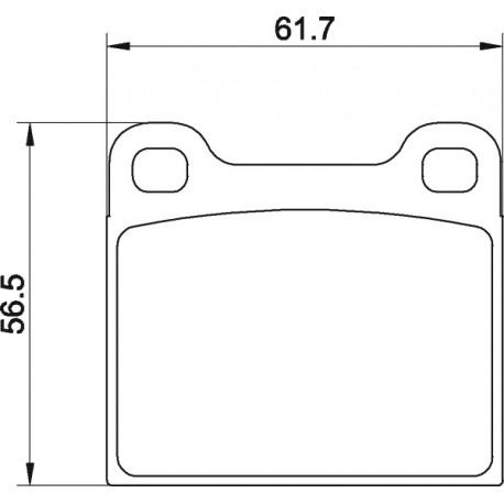 Kit plaquettes freins avant gauche/droite (70-72, automatique)