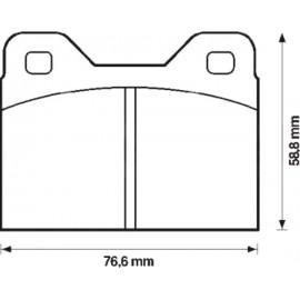 Kit plaquettes freins avant gauche/droite (70-74)