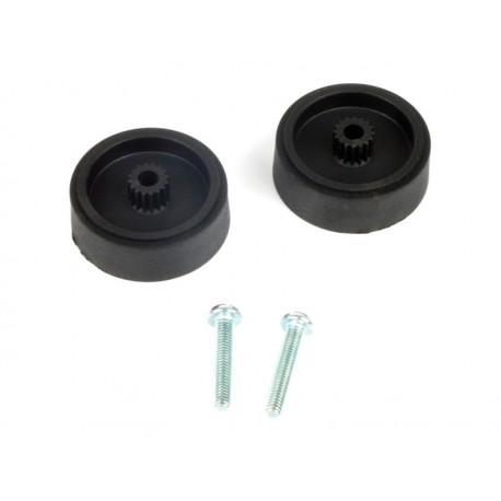 Kit embases manivelles lèves-glaces de portes avant/arrière gauche/droite (67-99, 13mm)