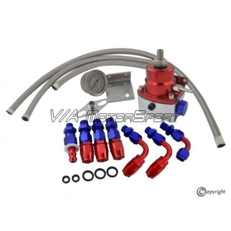 Kit régulateur pression d'injection H.P. (0-160PSI, réglable, rouge/silber)