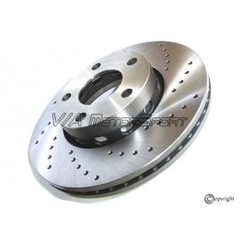 Kit disques frein avant gauche/droit (83-91, 276x25, 5/112, perforés)