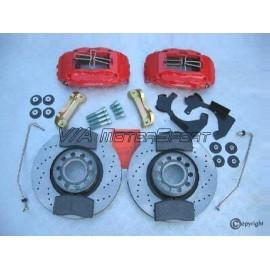 Kit freins avant gauche/droit H.P. Audi 80 Avant/Coupé/Limousine Quattro S2 (90-96, 314x30, 5/112, perforés, 4 pistons)