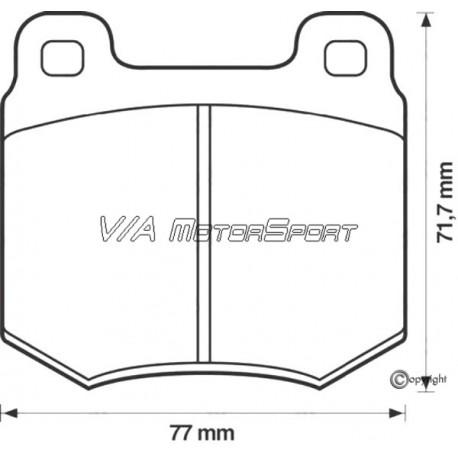 Kit plaquettes freins avant gauche/droite (72-74, automatique)