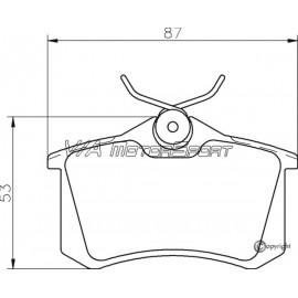 Kit plaquettes freins arrière gauche/droite (99-02)