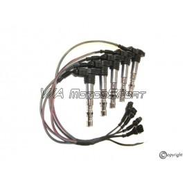 """Kit faisceau bobines d'allumage H.P. """"TFSI"""" moteur R5 2.2L 20VT (91-97)"""