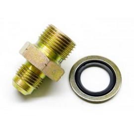 Adaptateur acier male-male (-6AN, M18)