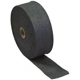Ruban isolant thermique d'échappement fibre céramique (50mm x 15m, noir)
