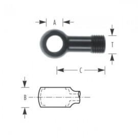 Banjo simple droit aluminium (M14x1.5, cône convexe 60°)
