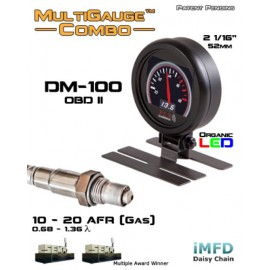 "Kit indicateur DM-100 OBDII/CAN SM-AFR Combo ""PLX Devices"" (digital, 52mm)"