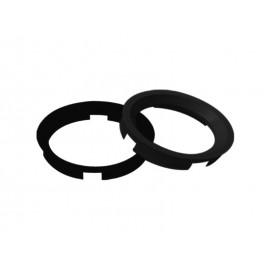 Bague de centrage de roue (63.40x60.10mm, noire)