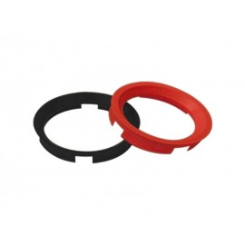Bague de centrage de roue (63.40x57.10mm, rouge orange)
