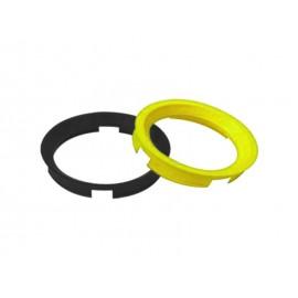 Bague de centrage de roue (72.60x65.10mm, jaune)