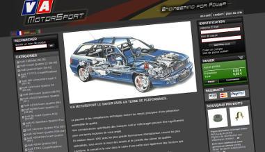 homepage de la version précédente du site vamotorsport